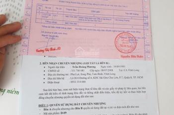 Tôi cần bán gấp lô đất Củ Chi mặt tiền đường Nguyễn Văn Khạ