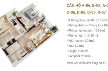 Bán gấp căn hộ 81m2, 2pn tại tòa C Imperia Sky Garden 423 Minh Khai, Giá: 2,95 tỷ bao phí