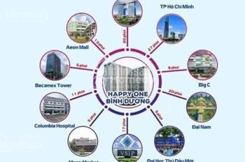 Kẹt tiền sang nhượng lại căn hộ đẹp nhất dự án Happy One giá GĐ1 1 tỷ 970, DT 66m2, 2PN
