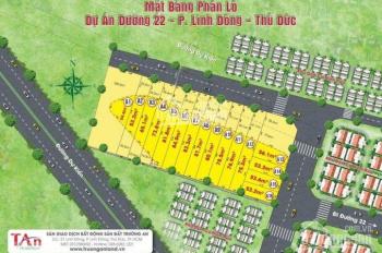 Bán đất hẻm 17 đường 22, phường Linh Đông, quận Thủ Đức, DT: 115m2