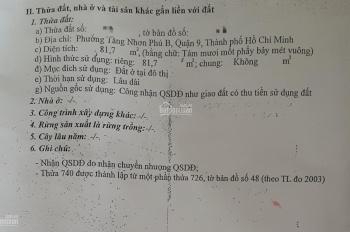 Nhà 1 trệt 1 lầu, căn góc 2 mặt tiền cách chợ Tăng Nhơn Phú B 300m, 82m2, giá chỉ 4.22 tỷ TLC
