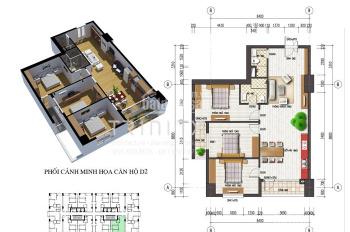 Bán căn hộ 109m2 có 3PN, cửa Đông Bắc tại CT4 KĐT Văn Khê giá 1.5 tỷ. LH 0946543583