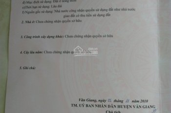 Chính chủ bán đất Tân Tiến, Văn Giang