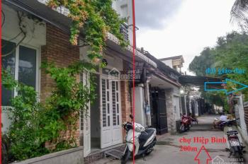 Bán nhà nhỏ 2 tầng cách chợ Hiệp Bình 100m, hẻm ô tô đi vào, thông thoáng, thích hợp để ở