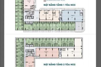 Bán ki ốt N03 Ecohome 3, DT 43 m2 x 2 tầng, MT 4.67m giá bán 37 tr/ m2, vào tên HĐ mua bán