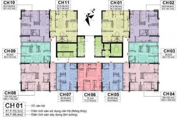 Chính chủ bán cắt lỗ CHCC A10 Nam Trung Yên, 1003 - 65m3, 1902 - 94m2, giá 30 tr/m2. LH: O9896O8597
