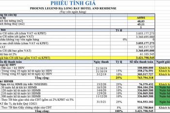 Phoenix Legend Hạ Long chỉ với 1,8 tỷ cam kết lợi nhuận 350tr, cam kết mua lại 4,2 tỷ.LH 0972658714