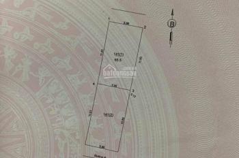 Chính chủ bán lô đất 65.5m2, mt 5.98m ngõ 265 Ngô Xuân Quảng, Trâu Quỳ, Gia lâm, Hà Nội.