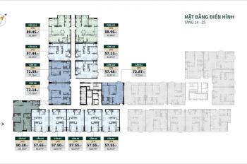Bán căn hộ 2PN, hướng Đông Nam, căn hộ Lacosmo Tân Bình, tầng cao, view Q1.