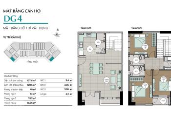 Bán căn hộ Centum Wealth, 3PN, căn góc tầng 18, giá tốt, LH: 0919830239