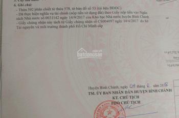 Cần bán 5x23.5m đất thổ cư ngay trường THCS Hưng Long, Bình Chánh. Giá chỉ 2.2 tỷ TL - 0938142686