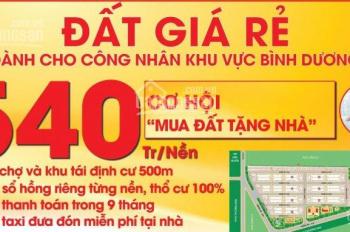 Mở bán 525 nền đất ,nhà phố ven sông Thị Tính kcn An Điền thị xã Bến Cát giá trọn gói chỉ 540tr