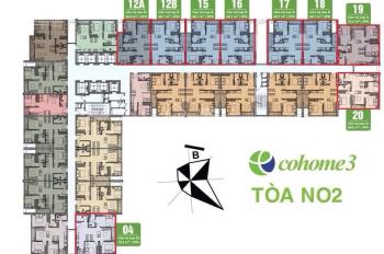 Bán căn N02 - 1804 căn góc 2 mặt thoáng Đông - Nam 3PN đẹp nhất dự án Ecohome 3. LH: 0982416892