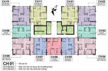 Tập hợp những căn cắt lỗ, bằng gốc CHCC Handico A10 Nam Trung Yên. Diện tích 65m2, 72m2, 100m2