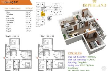 Chính chủ bán căn hộ 3PN, diện tích 88,08m2 hướng ĐB chung cư Bea Sky Nguyễn Xiển, Hoàng Mai