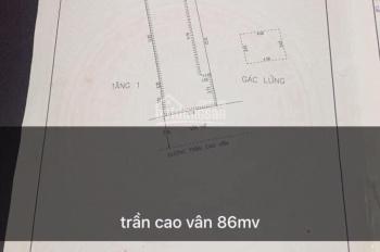 Bán nhà mặt tiền Trần Cao Vân gần ngã tư Ông Ích Khiêm: 0973343779