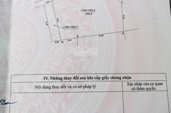 Bán gấp 340m2 đất thổ cư Sen Hồ, Lệ Chi, Gia Lâm, ngõ 2m, chia được lô nhỏ. LH 0987498004