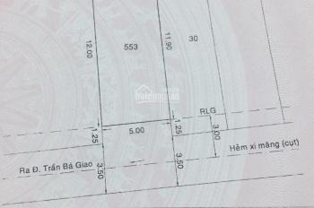 Chính chủ bán lô đất đường Dương Quảng Hàm, p5, Gò Vấp hẻm 5m, DT 5x12m. Giá 5.2 tỷ LH: 0915032121