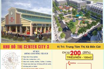Center City 3 - chỉ 179 triệu sở hữu đất nền Sài Gòn Land 2, chủ đầu tư Sài Gòn Land