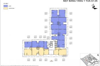 Bán shophouse chân để tòa S1.05, diện tích 75m2, dự án Vinhomes Ocean Park, Gia Lâm LH: 0936298166