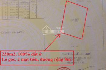 Bán đất thổ cư 230m2 ở Đồng Táng, Đồng Trúc, đường rộng 8m, sát Đại lộ Thăng Long. 0866880789
