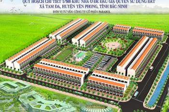 Đất nền dự án khu đô thị Tam Đa New Center xã Tam Đa, huyện Yên Phong, giá chỉ từ 10tr/m2