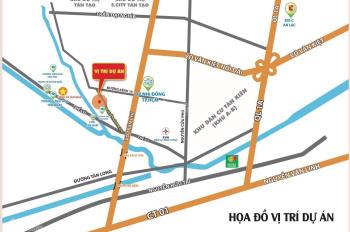 Bán đất MT BV, chợ, trường học, sổ hồng riêng thổ cư 100% XDTD, Xã Tân Nhựt, Huyện Bình Chánh