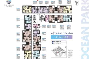 Giá siêu rẻ! Căn hộ 69,4m2, 2PN + 1 tại tòa S2.11 Vinhomes Ocean Park, giá 1.8 tỷ bao phí