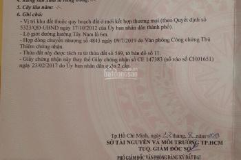 Bán đất đường Cao Đức Lân, An Phú, Q, 2, 4x20m, GPXD: 1 hầm, 3 lầu ST, giá 11 tỷ