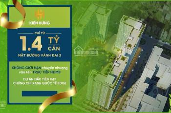 Căn hộ 2PN giá chỉ 1,4 tỷ ngay gần mặt đường Vành Đai 3 Phạm Văn Đồng. LH 0982416892