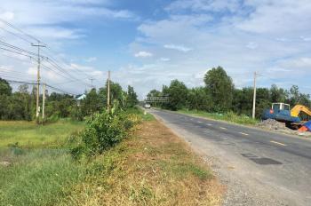 Bán đất mặt tiền 20m QL62 xã Tân Tây, huyện Thạnh Hóa - DT (2126m2) - LH: 0943 944 018