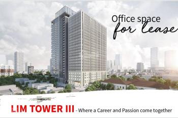 Lim Tower III cho thuê văn phòng nhiều diện tích 200 - 3000m2, Liên hệ 0763.966.333