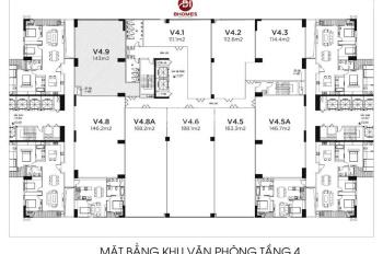 Mặt sàn văn phòng tầng 4 dự án Imperia Garden, 203 Nguyễn Huy Tưởng, nhận bàn giao ngay