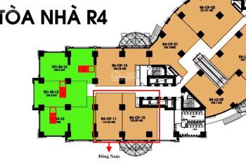 Cần bán văn phòng tầng 2 R4 Royal City rộng 236m2 giá 10 tỷ bao phí có thương lượng. LH 0917462689