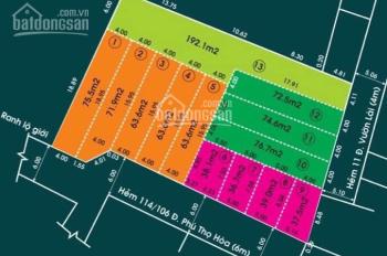 Bán đất sổ hồng riêng 21/15A Vườn Lài, Tân Phú, Giá đầu tư F0 chỉ từ 5.2 Tỷ