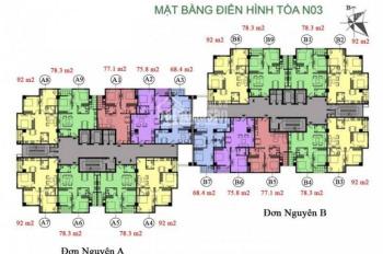 Anh Bình bán nhanh căn hộ 1208 DT 92m2 chung cư K35 Tân Mai, giá 26 tr/m2. LH 0961436488
