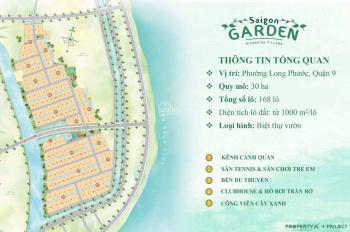 Nền biệt thự nhà vườn Sài Gòn Garden Q9 gần VinCity chỉ từ 14tr/m2. CK 18%, DT 1000 m2, 0901383993