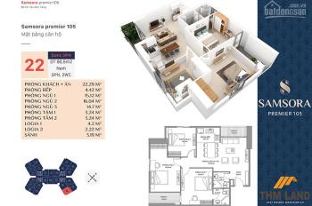 Chính chủ cần bán gấp căn 90.5m2, tầng 8 chung cư Samsora Hà Đông
