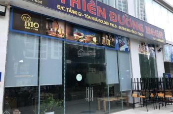 Cho thuê sàn thương mại lô góc tòa GOLDEN FIELD- mặt Nguyễn Cơ Thạch.LH:085.395.6999