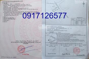 Cần bán gấp lô đất hẻm 179 Phạm Hồng Thái, TPVT, hướng ĐB, DT 64m2. Giá 3,6 tỷ