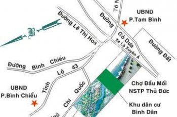 Bán đất có sổ riêng MT Ngô Chí Quốc, Thủ Đức, gần chợ, dân cư, giá 1 tỷ 4/nền, SHR. LH 0931342789