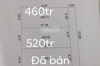 Tôi có 2 lô đất hướng Đông, cần bán khu 5 Việt Hòa. DT 46m2, giá 520 triệu