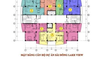 Bán căn ngoại giao Sài Đồng Lake View cạnh Vinhomes Riverside giá siêu rẻ 19,6tr/m2. LH: 0904390346