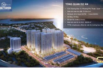 Chính chủ cần bán Q7 Riverside căn 1PN+1 53m2 giá 1tỷ620, thanh toán 37,5%. LH 0934823023