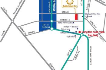 Đất nền dự án Golden Future City ngay KCN bàu Bàng chỉ 550tr/nền, sổ đỏ, TC 100%, LH 0981.633.644