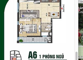 Mình cần bán căn A6, chung cư Vũng Tàu Gold Sea, 45m2, giá bán 1 tỷ 960 triệu