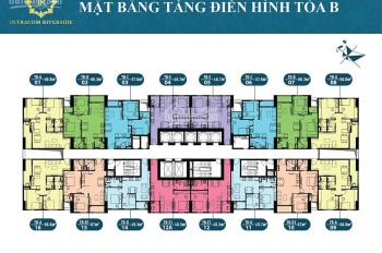 Cần bán gấp căn hộ chung cư Intracom Riverside cầu Nhật Tân - 2 phòng ngủ giá 1tỷ180, 0906 995 889