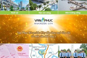 Chính chủ cần bán lô l5 đối diện kênh Sông Trăng KĐT Vạn Phúc City, Thủ Đức, DT 7x19m giá 14.2 tỷ