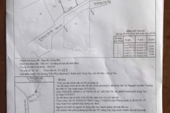 Bán đất xd biệt thự hẻm Trần Phú phường 5 đường ô tô 6m