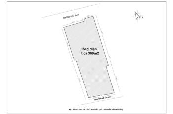 Cần bán thửa đất mặt phố 369m2 ngã tư Cầu Giấy, Nguyễn Văn Huyên, mặt tiền 12,4m, hướng tây nam